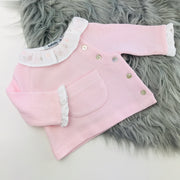 Pink Spanish Knitted Jam Pants Set Top