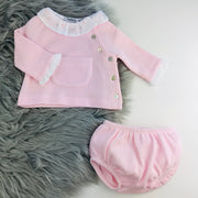 Pink Spanish Knitted Jam Pants Set