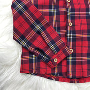Red Tartan Shirt & Shorts Set Close