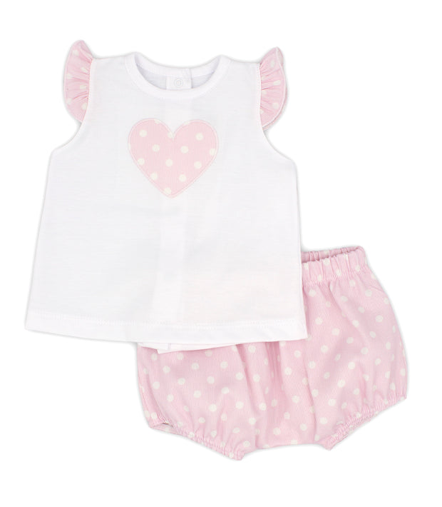 White & Pink Spanish Jam Pants Set