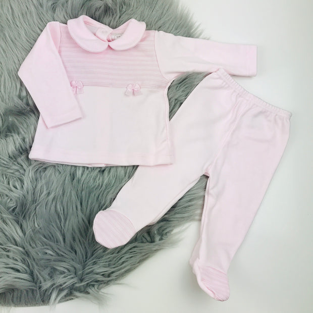 Baby Pink Top & Leggings Set