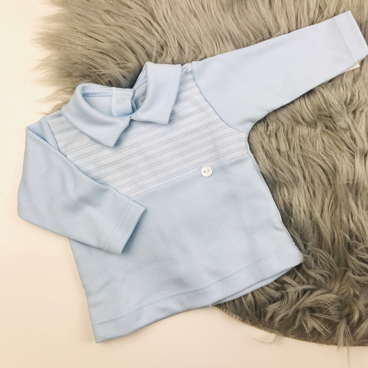 Baby Blue Top & Trouser Two Piece Set