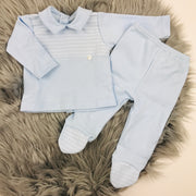 Baby Blue Top & Leggings Two Piece Set