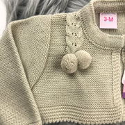 Beige Pom-Pom Bolero Close