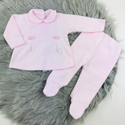 Baby Pink Top & Leggings Two Piece Set