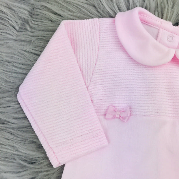 Baby Pink Spanish Sleepsuit Sleeve