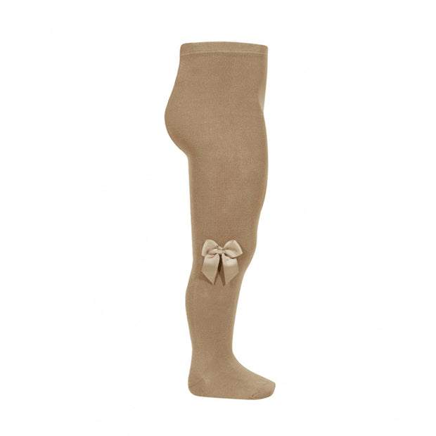 Camel Spanish Tights With Side Bow