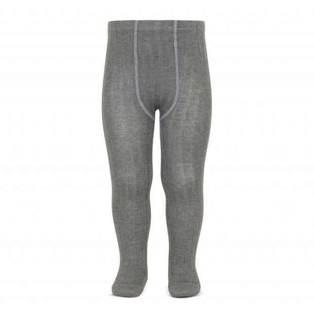 Unisex Grey Spanish Wide Rib Tights