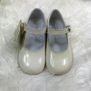 Beige Mary Jane Shoes Front