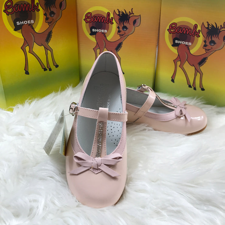 Pink Bambi Patent Leather Shoes