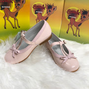 Pink Bambi Patent Leather Shoes Side