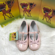 Pink Bambi Patent Leather Shoes Front