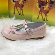 Pink Bambi Patent Leather Shoes Buckle
