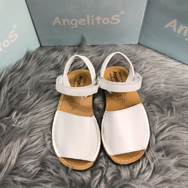 White Leather Spanish Sandals