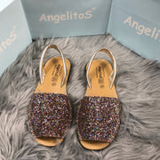 Multi Glitter Spanish Slingback Sandals 2