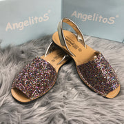 Multi Glitter Spanish Slingback Sandals