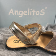 Gold Mini Glitter Spanish Sandals Buckle