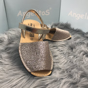 Gold Mini Glitter Spanish Sandals