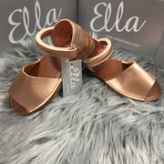 Matt Rose Gold Spanish Sandals Side