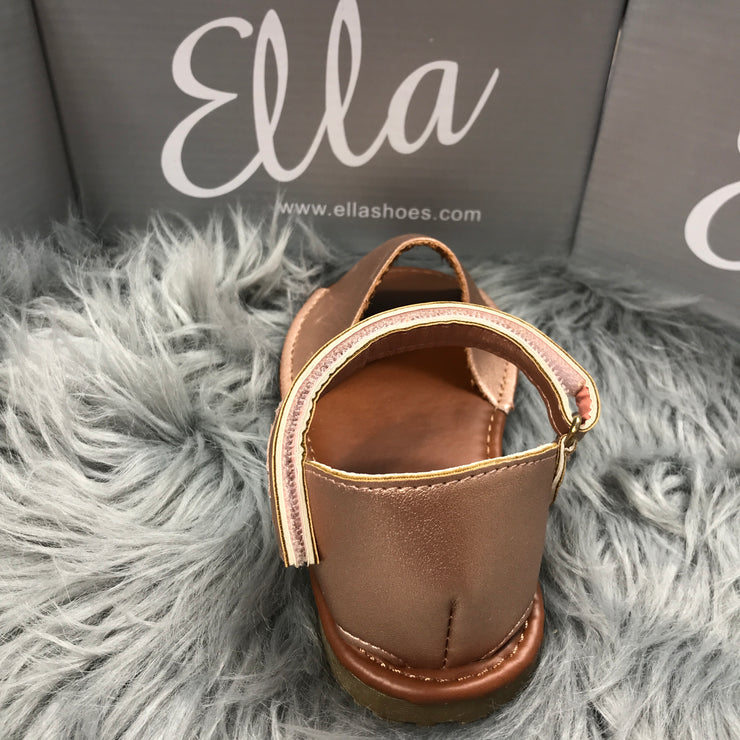 Matt Rose Gold Spanish Sandals Back