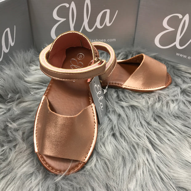 Matt Rose Gold Spanish Sandals