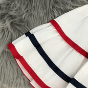 White Navy & Red Blue Salior Style Dress