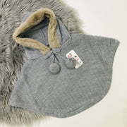 Grey Knitted Spanish Hooded Cape