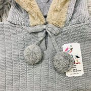 Grey Knitted Spanish Hooded Cape Close