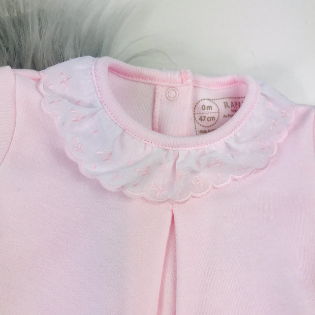 Baby Pink Frilly collar Spanish Sleepsuit Collar