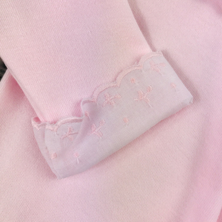 Baby Pink Frilly collar Spanish Sleepsuit Cuff