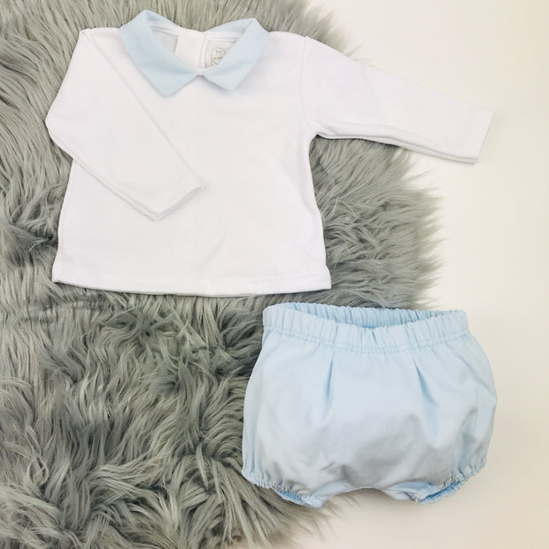 White Top & Jam Pants Set