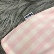 Pink & White Checked Dress close