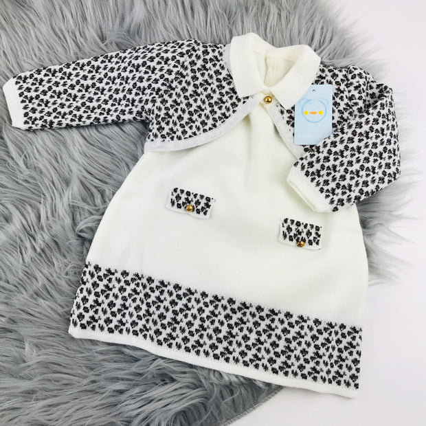 Cream Knitted Dress & Bolero Set