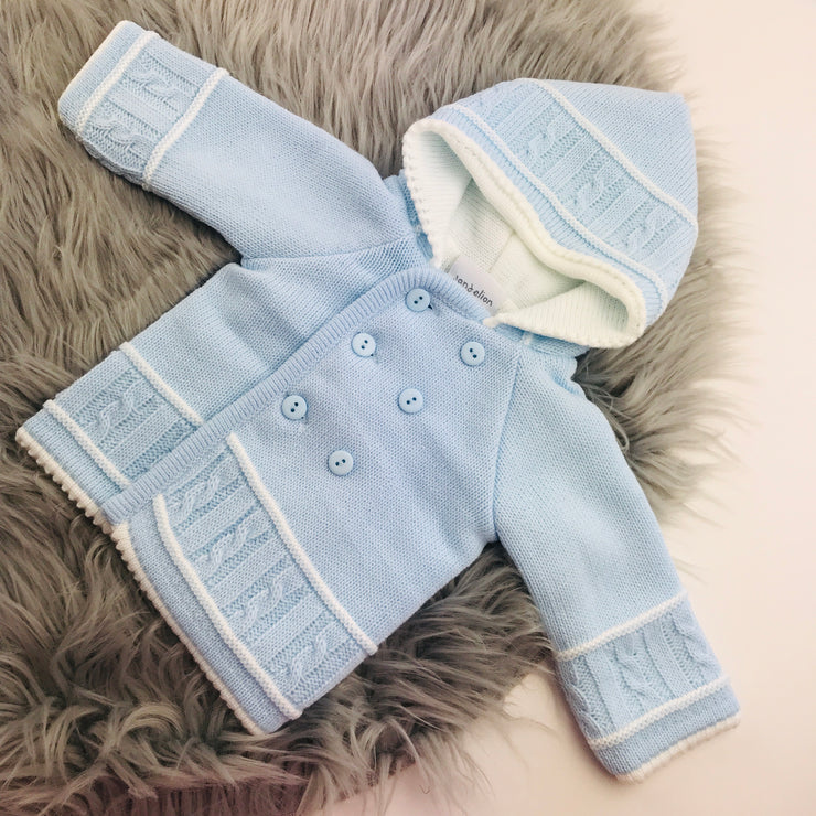 Sky Blue Knitted Baby coat