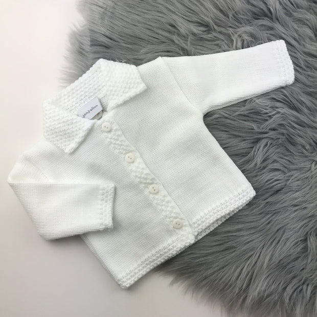 White Knitted Baby Cardigan