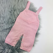 Dusky Pink Knitted Dungaree