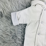 Grey Check Pramsuit Close