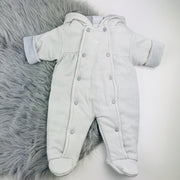 Grey Check Pramsuit Front