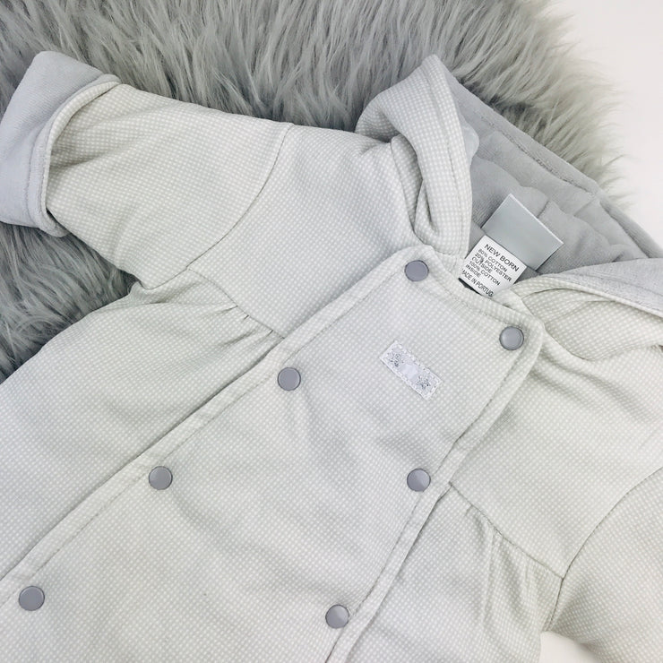 Grey Check Pramsuit Close 2