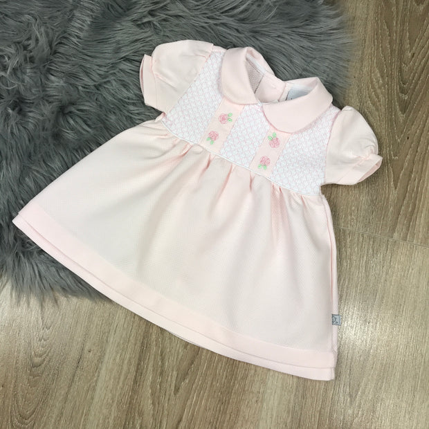 Pink Smocked Cotton Dress