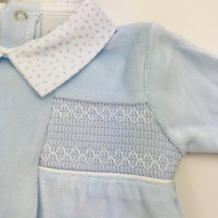 Baby Blue Smocking Close