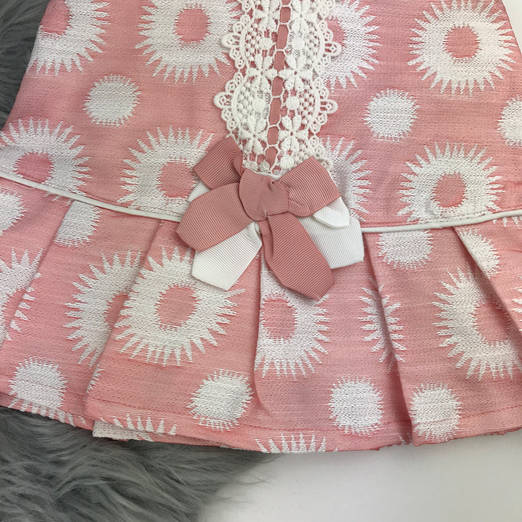 Pink & Cream Spanish Dress By Newness Hem