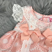 Peach & Cream Spanish Dress by Newness