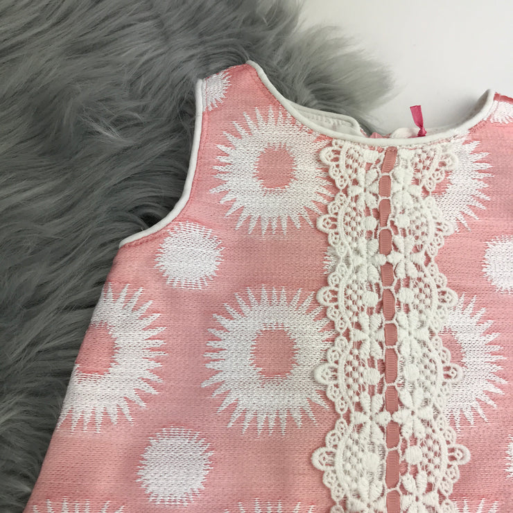 Pink & Cream Spanish Dress By Newness Close