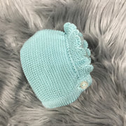 Water Green Spanish Knitted Bonnet