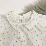 Blue & Ivory Shirt Close