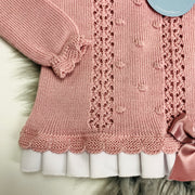 Dusky Pink Three Piece Knitted Spanish Set