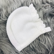 White Knitted Bonnet