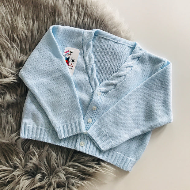 Baby Blue Knitted Spanish Cardigan