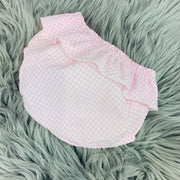 White Top & Pink Gingham Bloomers